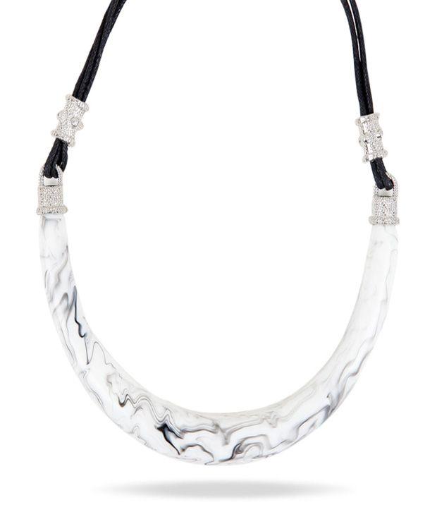 Carla Berroti White Ornate Necklace