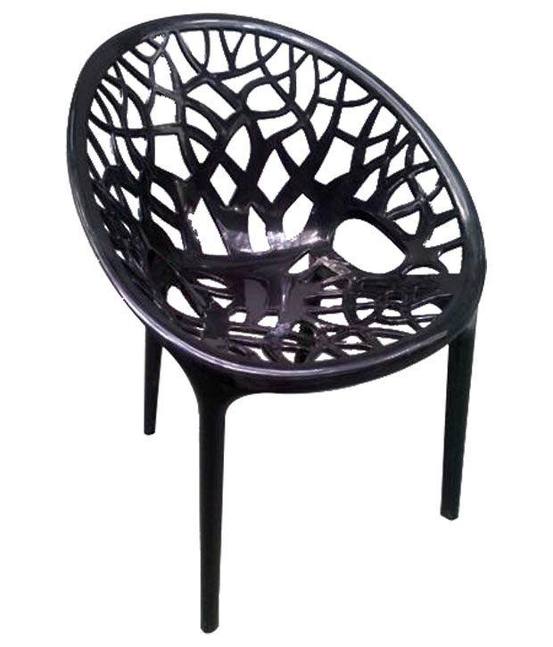 Nilkamal Vap Chair Crystal Pp Black (Polypropylene) - Buy Nilkamal