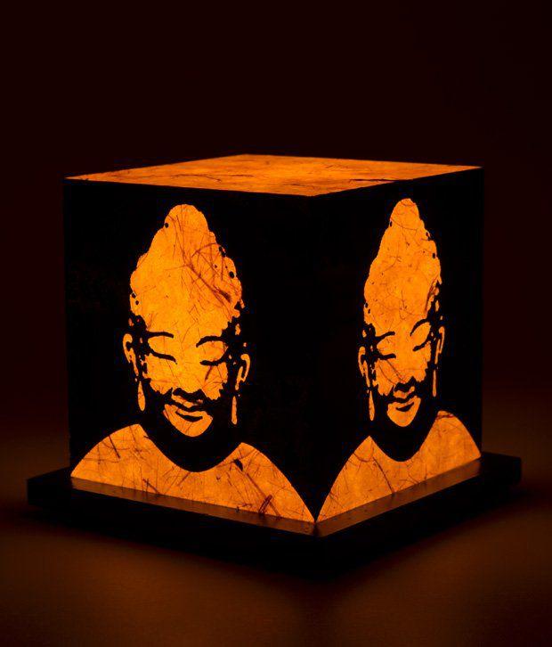 Shady Ideas Nirvana Yellow Acrylic Table Lamp
