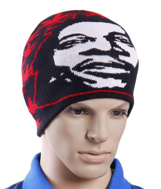 Lycans Black & Red Woollen Cap