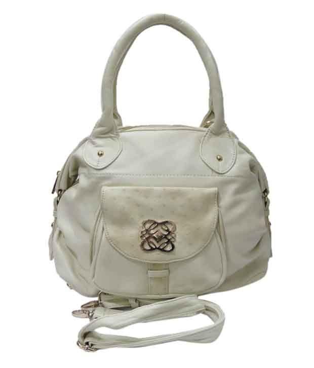 Nell Smart White Satchel Bag