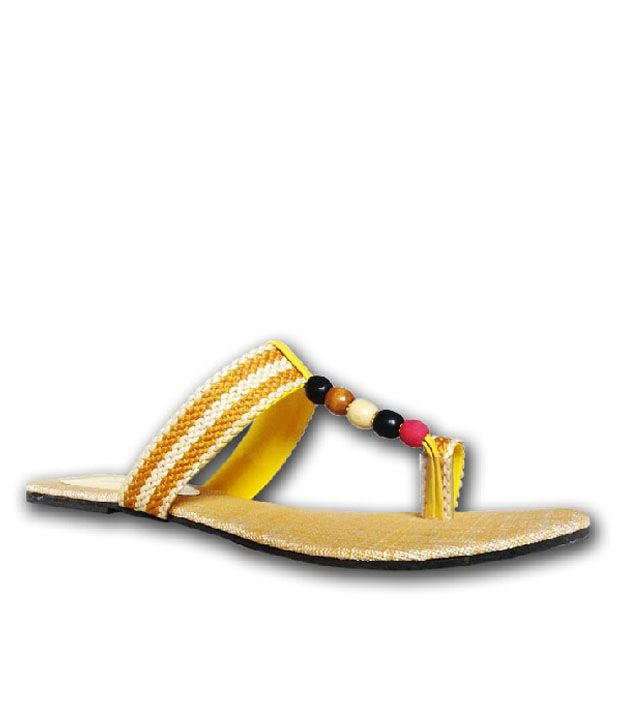 Bizarre Ethnic Yellow Flats