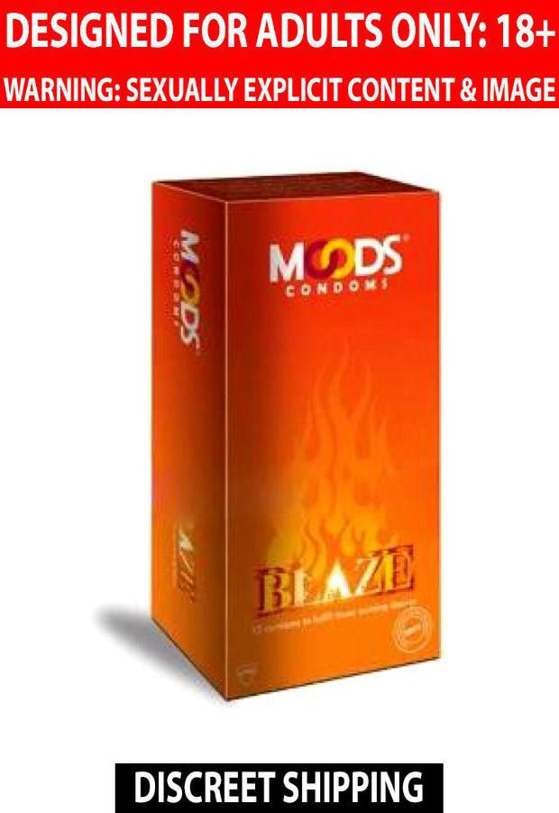 Moods Blaze Condoms 12's Condoms Bulk Lot