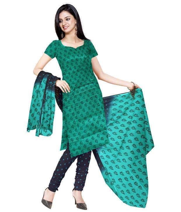 Unnati Silks Green Meghalaya Silk Chudidar Kamiz