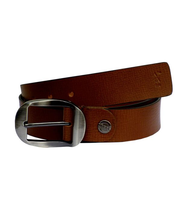S Leather Mart Brown Italian Leather Belt
