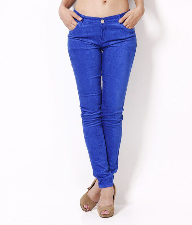 Fashion Cult Blue Corduroy Trousers