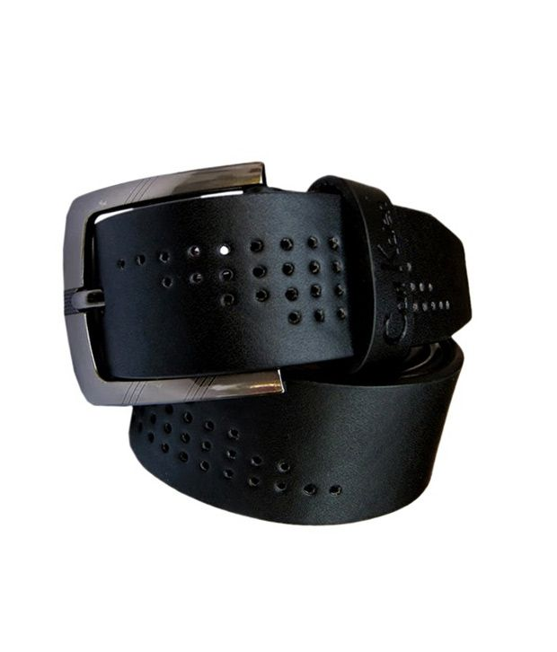 Winsome Deal Men's Black Synthetic Leather Casual Belt - CSLB43