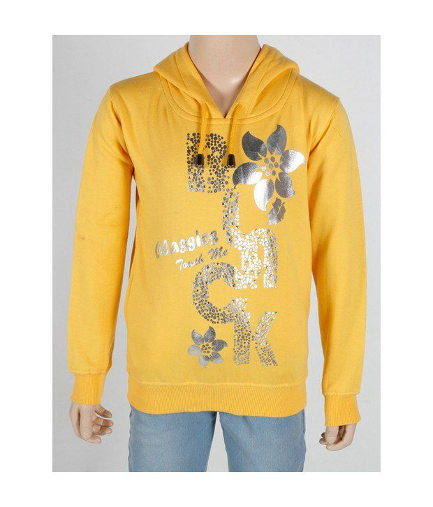 Touch Me Yellow Sweatshirt For Kids