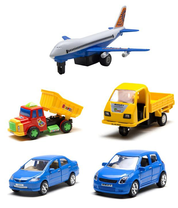Centy Jet, Honda City, Swift, Mahindra Champion & Dumper Truck - Combo ...