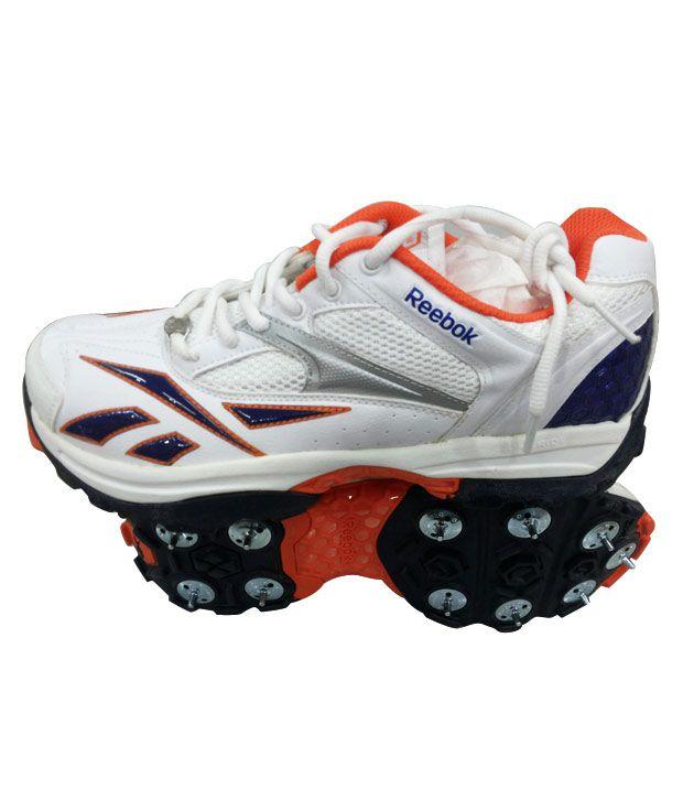 8fd7fa60a43faf Reebok Centurian II Royal White Cricket Shoes - Buy Reebok Centurian ...