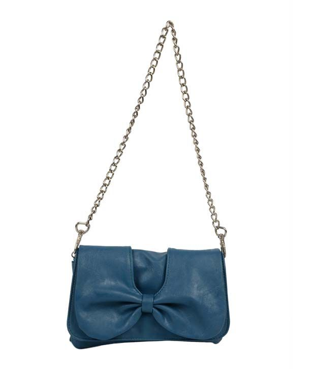 Butterflies BNS2166 Blue Clutch
