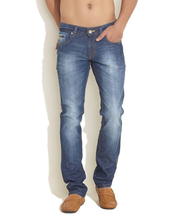 Yellowjeans Medium Blue Faded Jeans