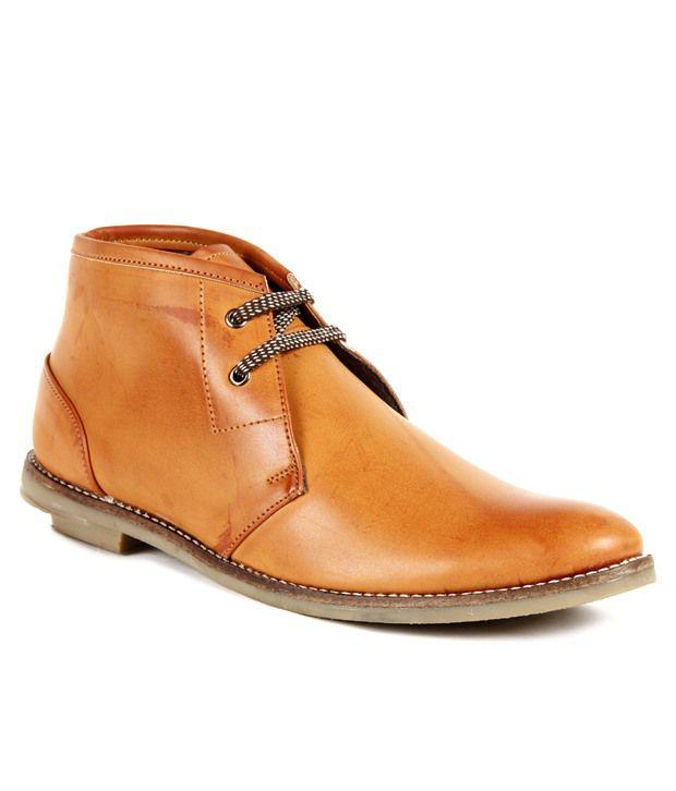 Pede Milan Trendy Tan Long Shoes