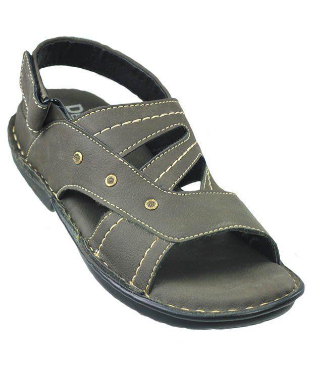 Dziner Stylish Velcro Sandle- Olive