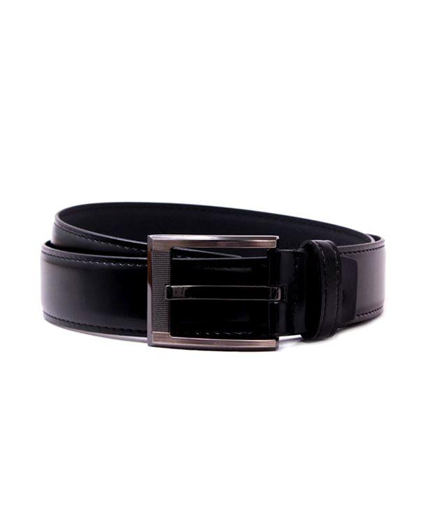 Pacific Gold Black Colour Belt for Men