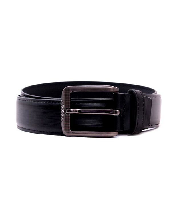 Pacific Gold Black Colour Mens Belt
