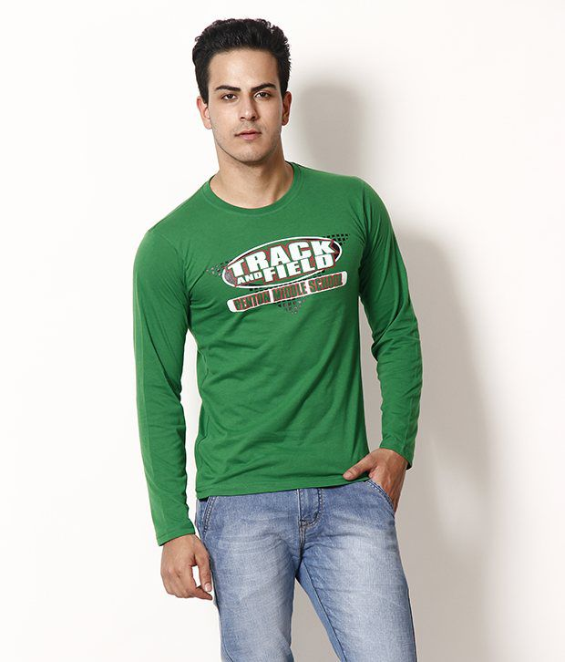 TSX Trendy Green Full Sleeves T Shirt
