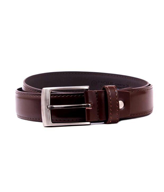 Pacific Gold Brown Mens Formal Belt