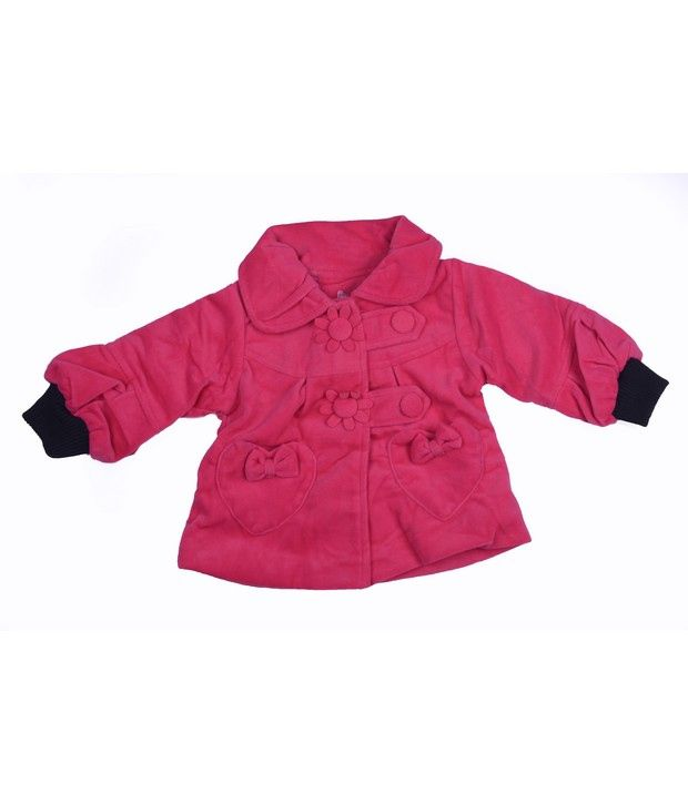 Isabelle Pink Winter Wear Jacket For Kids