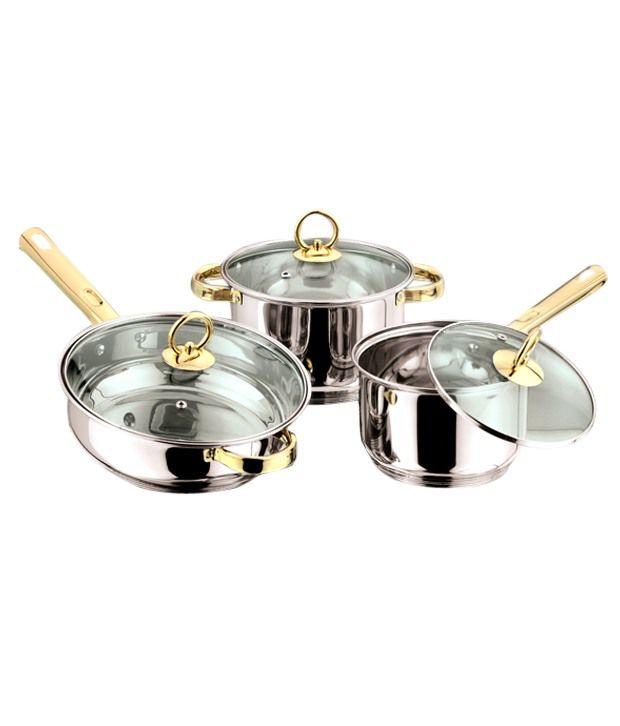 Kitchen Essentials Golden Induction Casserole, Fry Pan