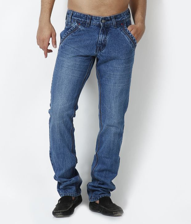 British Terminal Sky Blue Side pocket faded Jeans