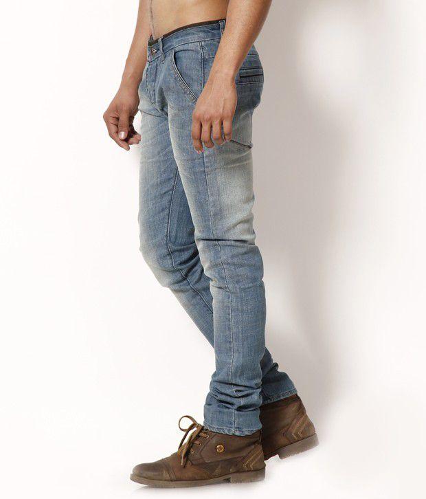 DesignRoadies Greenish Blue Stretchable Jeans