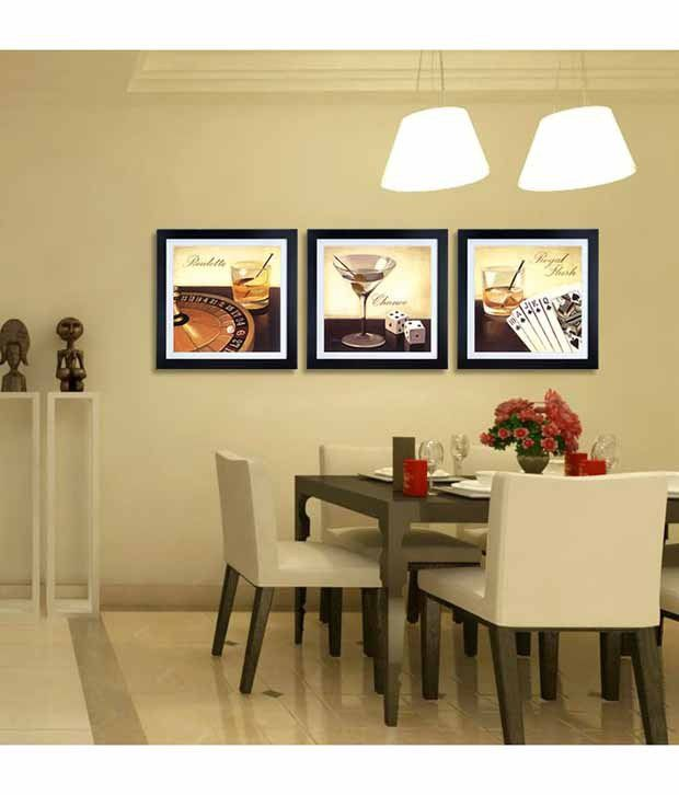 Everything Imported Triptych Roulette Step to Win Still Life Painting