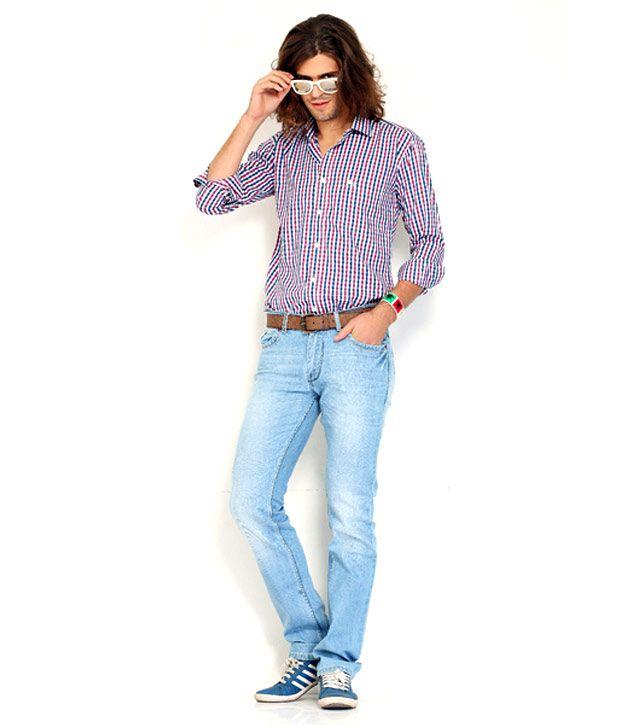 Nattg Sky Blue Slim Fit Jeans