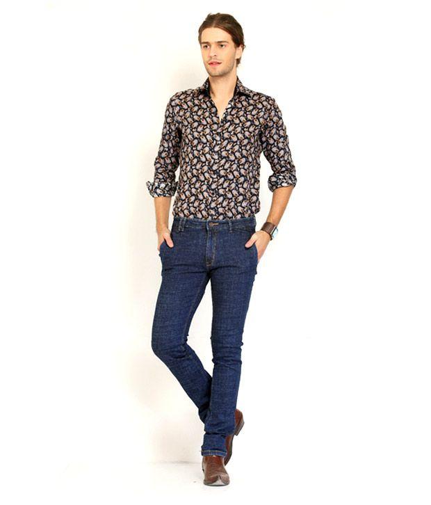 Nattg Smart Blue Colour Slim Fit Jeans