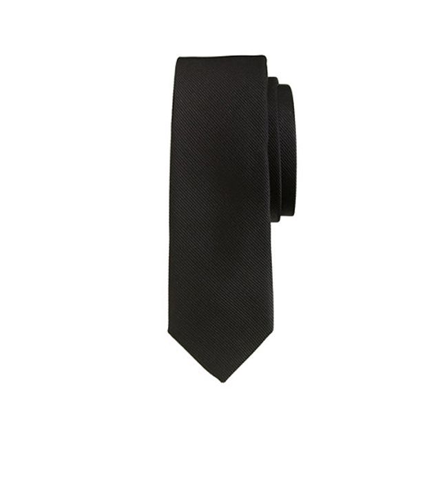 Civil Outfitters Smart Black Necktie With Red Dot Bow