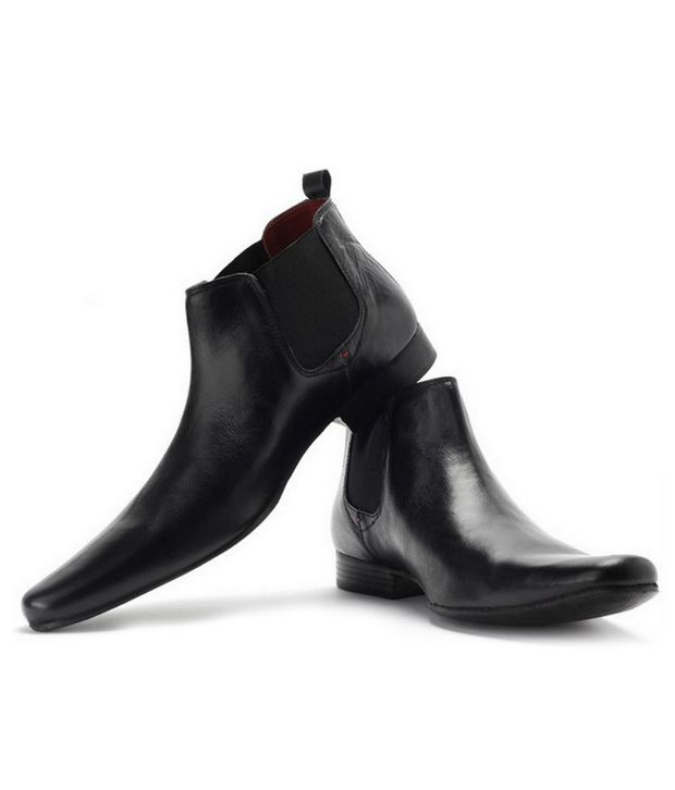 Zoot24 Sturdy Black Ankle Length Boots