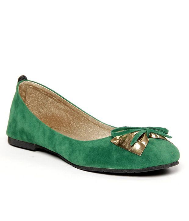 Butterfly Bewitching Green & Golden Ballerinas
