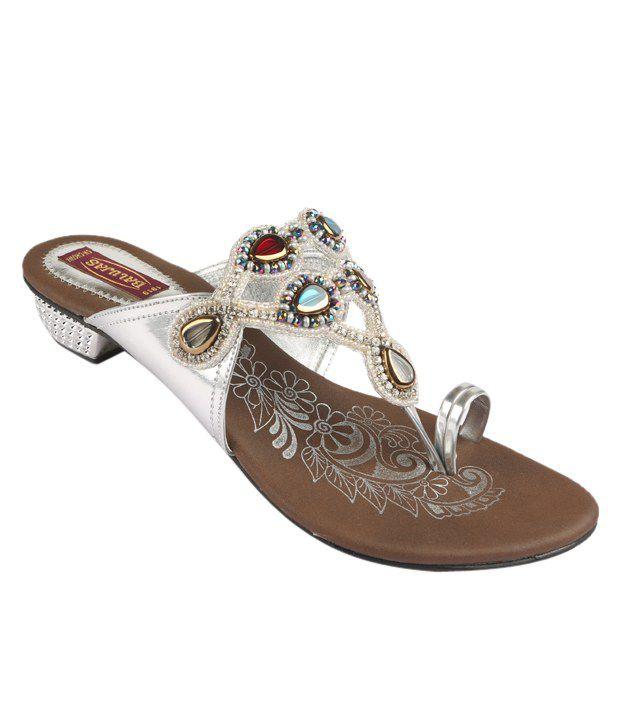 Balujas Silver Wedding Heels