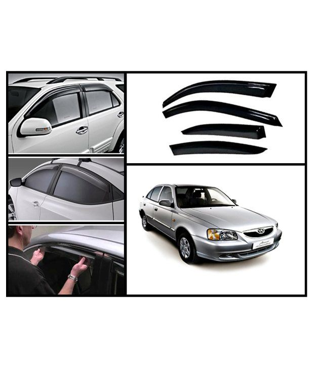 flomaster hyundai accent rain and sun protection car ventvisors interior protectors cum. Black Bedroom Furniture Sets. Home Design Ideas