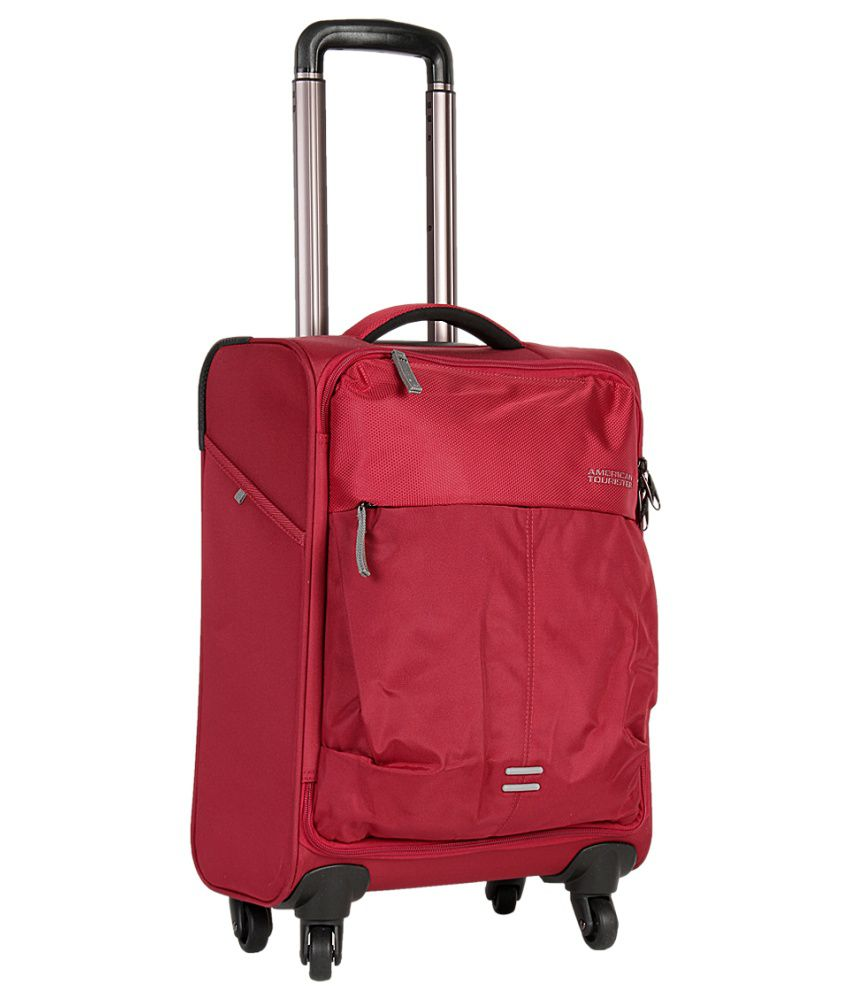 american tourister medium size smart red spinner 4w