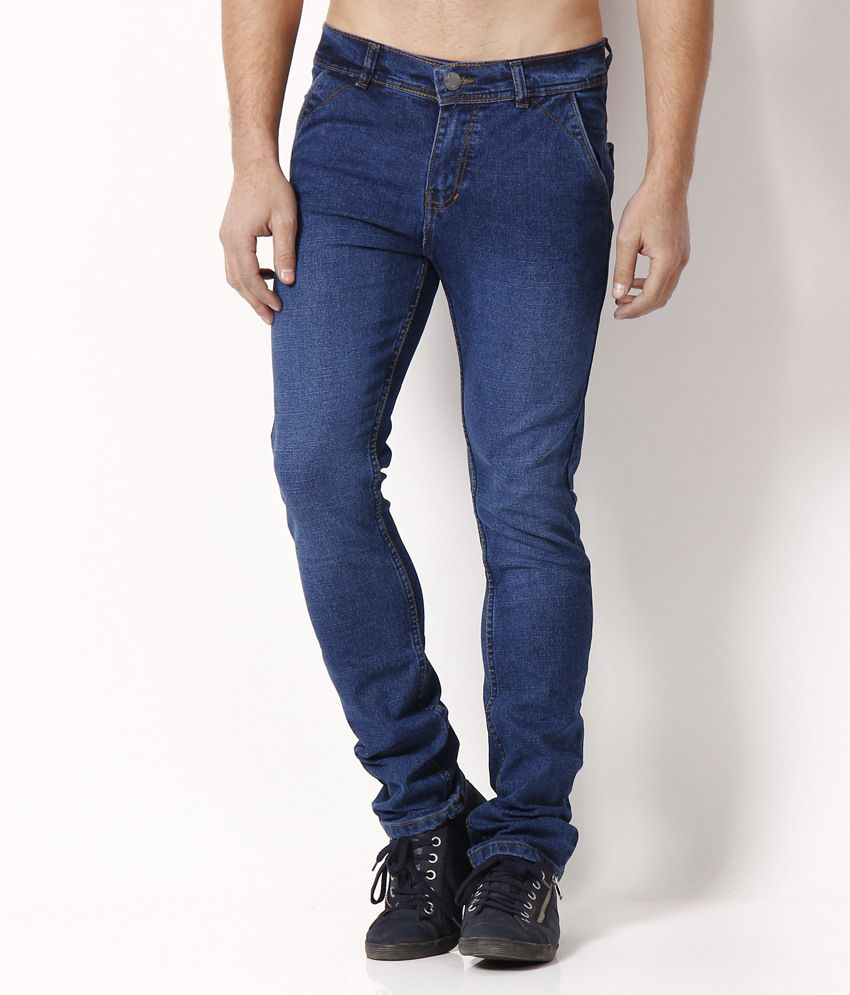 Nation Mania Medium Blue Faded Jeans