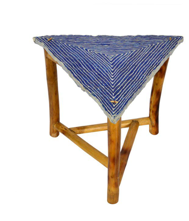 ExclusiveLaneBamboo And Papier Mache Table Royal Blue