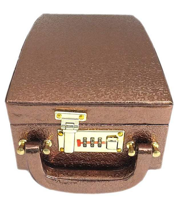 Golden Collections Jewellery Box - Copper With Lock