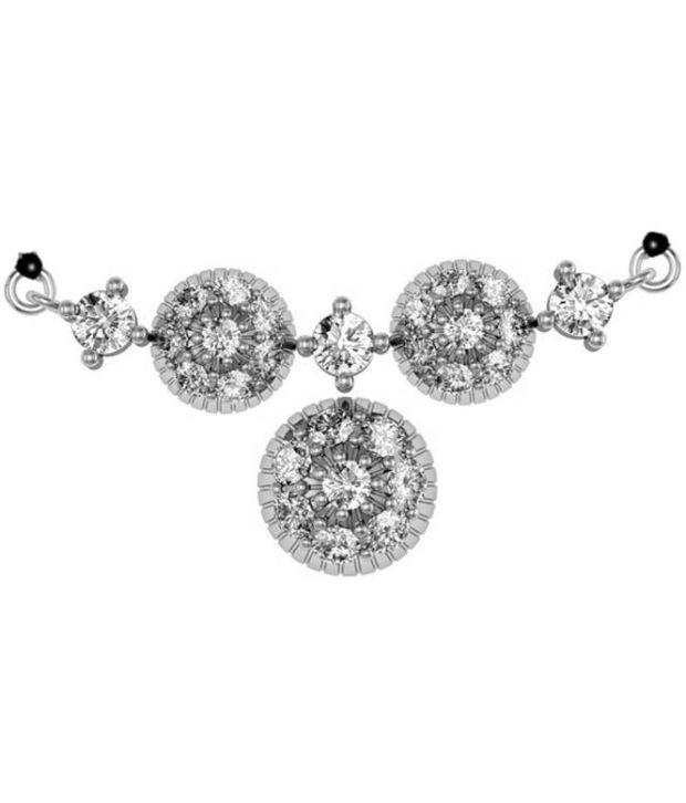 Jewel Hub SI-IJ CERTIFIED  Diamonds Pendant 0.2 ct / 0.7 gm  Sterling Sliver 925