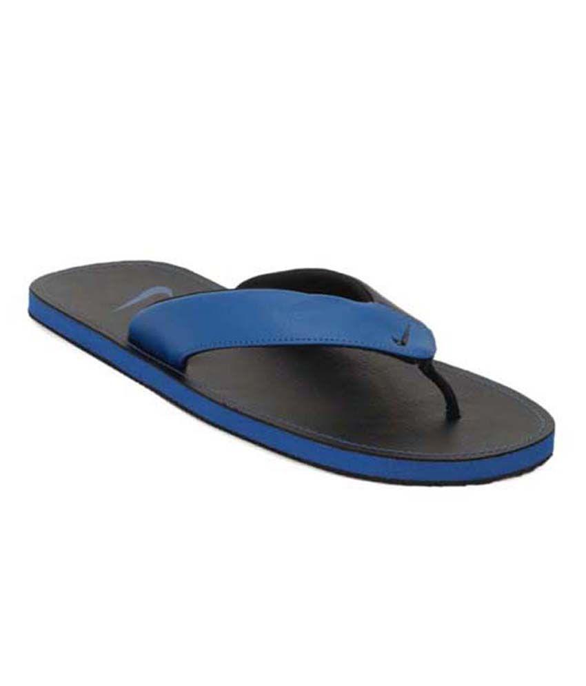 e8d5737a554c9 Nike Chroma Thong II Blue   Black Mens Slippers Price in India- Buy Nike  Chroma Thong II Blue   Black Mens Slippers Online at Snapdeal