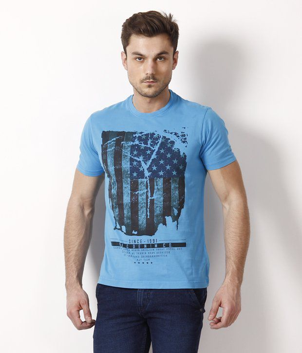 Octave Cool Aqua Blue T Shirt