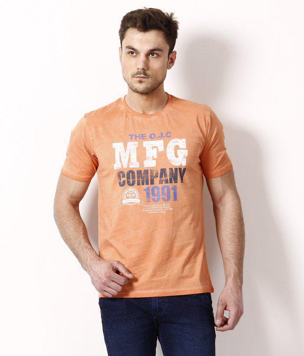 Octave Elegant Orange T Shirt