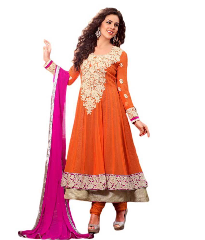 Mix n match sonal chauhan grey long wedding anarkali dress for Wedding dress material online