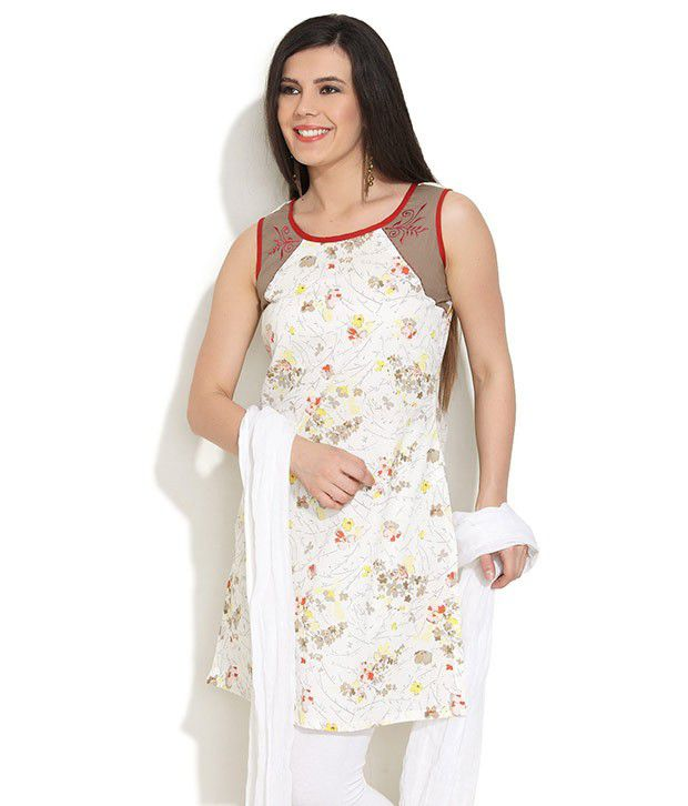 SRITIKA Floral And Embroidered Sleeveless Kurta