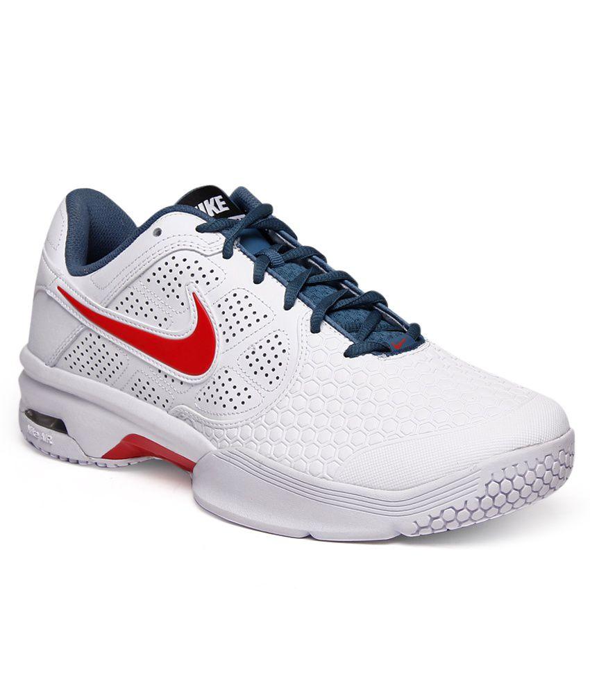 Nike Air Court Ballistec 4.1 White & Grey Tennis Shoes