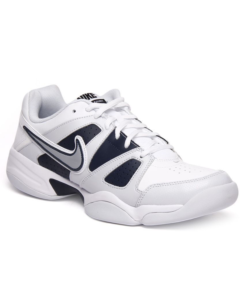 release date 63580 cddf8 Nike City Court VII Indoor White   Blue Tennis Shoes - Buy Nike City Court  VII Indoor White   Blue Tennis Shoes Online at Best Prices in India on  Snapdeal