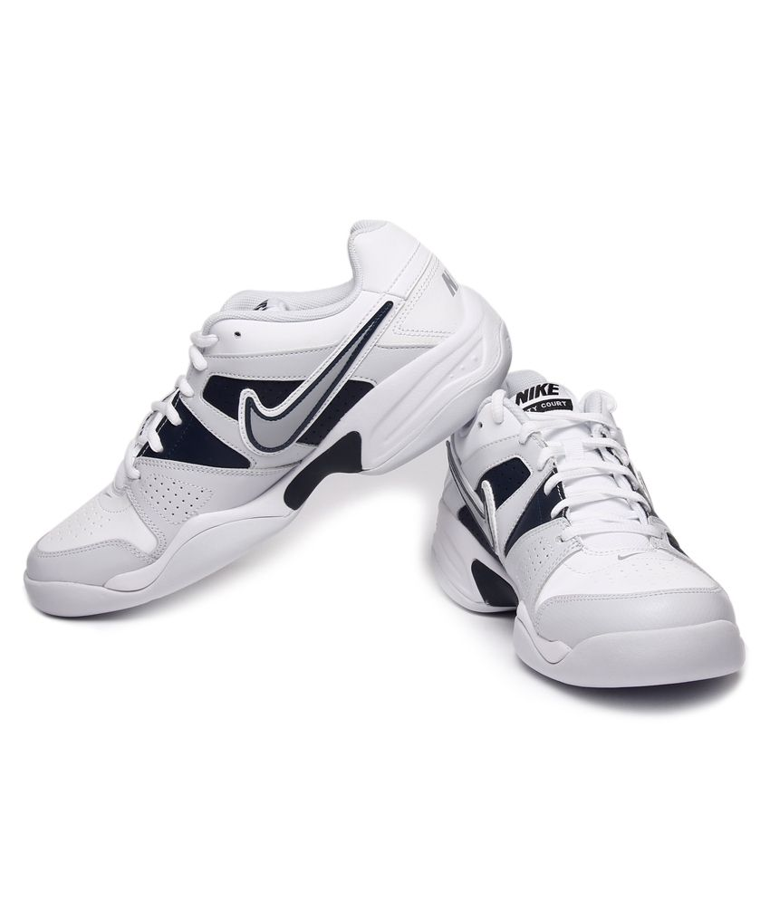 finest selection 5766a a74c9 ... Nike City Court VII Indoor White   Blue Tennis Shoes ...