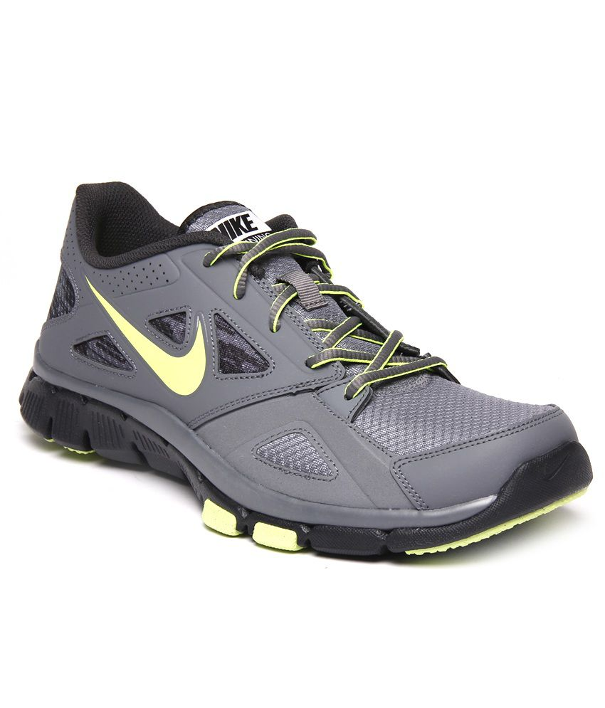 6ac924092fa37 Nike Flex Supreme TR2 Grey and Black Running Shoes - Buy Nike Flex Supreme  TR2 Grey and Black Running Shoes Online at Best Prices in India on Snapdeal