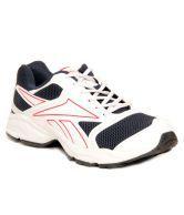 Reebok Redial Run LP White & Navy Blue Running Shoes