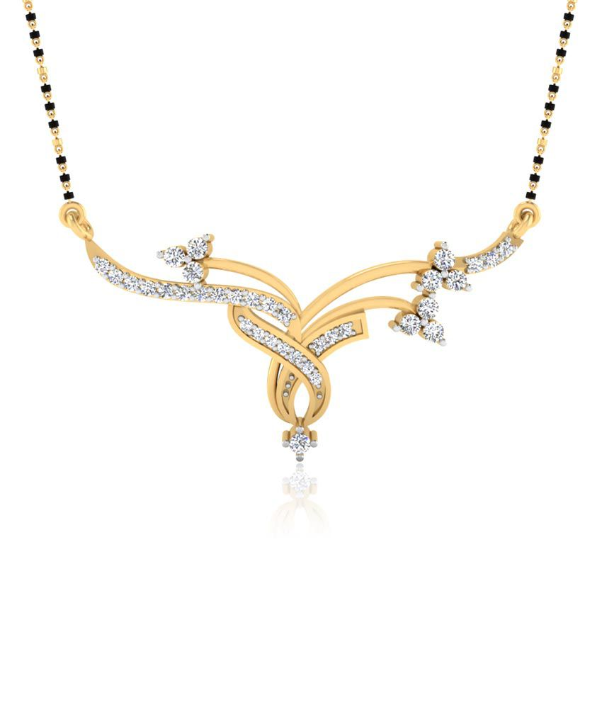 Forever Carat 0.23 ct Real Diamond Mangalsutra in 100% Certified 925 Sterling Silver